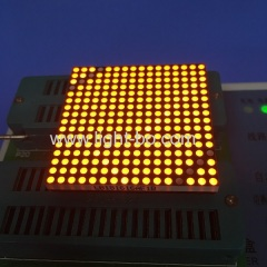 Ultra bright orange 1.8mm 16 x 16 dot matrix led display for moving signs / display screens