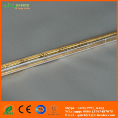 gold coating quartz glass heater lamps
