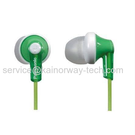 Wholesale Panasonic RP-HJE120-G Ergo-Fit Inner Ear Headphones Stereo Earbuds Green
