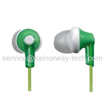 Wholesale Panasonic RP-HJE120-G Ergo-Fit Inner Ear Headphones Stereo Earbuds Green