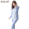 2015 100% cotton Lace patchwork long Nursing wear Breastfeeding clothes maternity Pajama Lounge spring and autumn