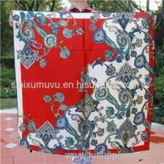 Custom Logo Silk Scarves Digital Printing 100% Silk Satin Square Scarf