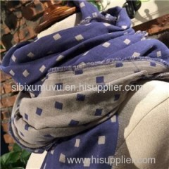Custom Printed Woven 100% Cotton Double Layer Dots Scarves