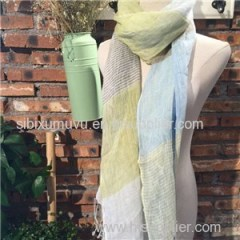 Custom Stripe Design Woven Yarn Dyed 100% Linen Scarves