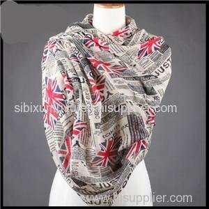 Custom Logo Printed Polyester Voile Scarves Flags