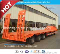 3 Axle 80 Ton Lowbed Semitrailer or Lowbed Semi Truck Trailer