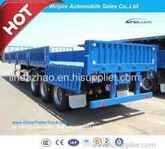 3 Axle 12.5m Utility Semitrailer Fence Semi Truck Trailer