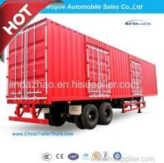 Box Van Truck Semi Trailer or Van Semi Truck Trailer