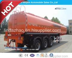 3 Axle Single Tire Large Volume 45000L Fuel Tanker or Fuel Semitrailer