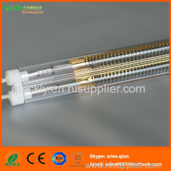 Double heating element quartz emitter