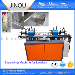 Tube expanding machine for ladders