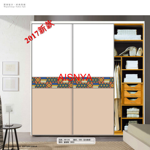 colorful pattern designs on wood panel home decorative material colthes wardrobe