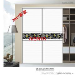 2017 Projetos novos da forma para a porta do wardrobe da mobília do quarto e a decoração home