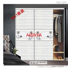2017 تصاميم جديدة مع الزهور لureau وخزانة انزلاق الباب