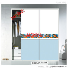 home furniture/ accordion door/ horizontal sliding door/ chest & wardrobe sliding door made by wooden plank