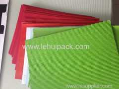 F-flute sheets for cosmetics packaging and food packaging