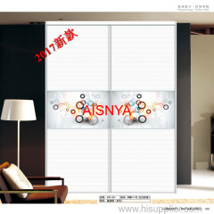Bedroom furnitures/ Bright color designs/ chest & wardrobe sliding door made by matte wooden sheet OEM & ODM