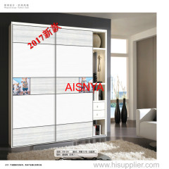 2017 New designs with cartoons for Child bedroom furniture wardrobe door and armory wood sheet