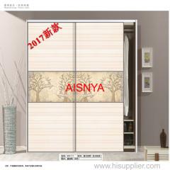 2017 تصاميم جديدة لباب أثاث لغرف النوم خزانة ورقة الخشب لمصانع الأسلحة