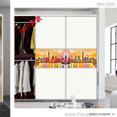 Home furnitures chest & wardrobe sliding door made by wooden plank OEM & ODM