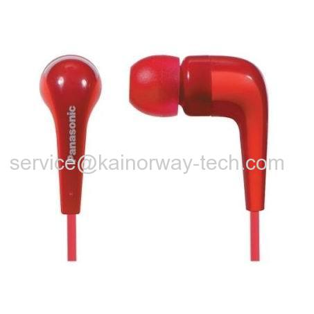Wholesale Panasonic RP-HJE140-R L-Shaped In The Ear Red Canal Type Insidephone Headsets
