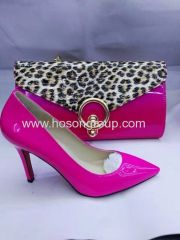 Hot Sales high heel shoes with matching leopard purse
