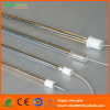 Energy saving infrared heating lamps with gold coating