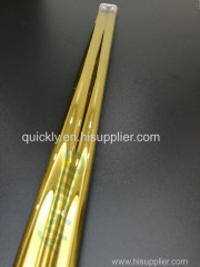 Medium wave infrared emitter with gold coating