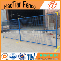 High quality security welded PVC coated Powder coated Canada temporary fence