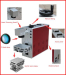Portable fiber laser marker for metal