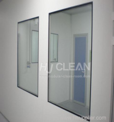 Pharmaceutical clean room windows