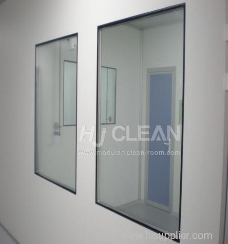 Pharmaceutical clean room windows