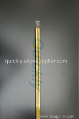 Golden heating quartz infrared emitter