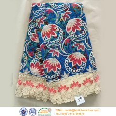 african wax print lace fabric wholesale China