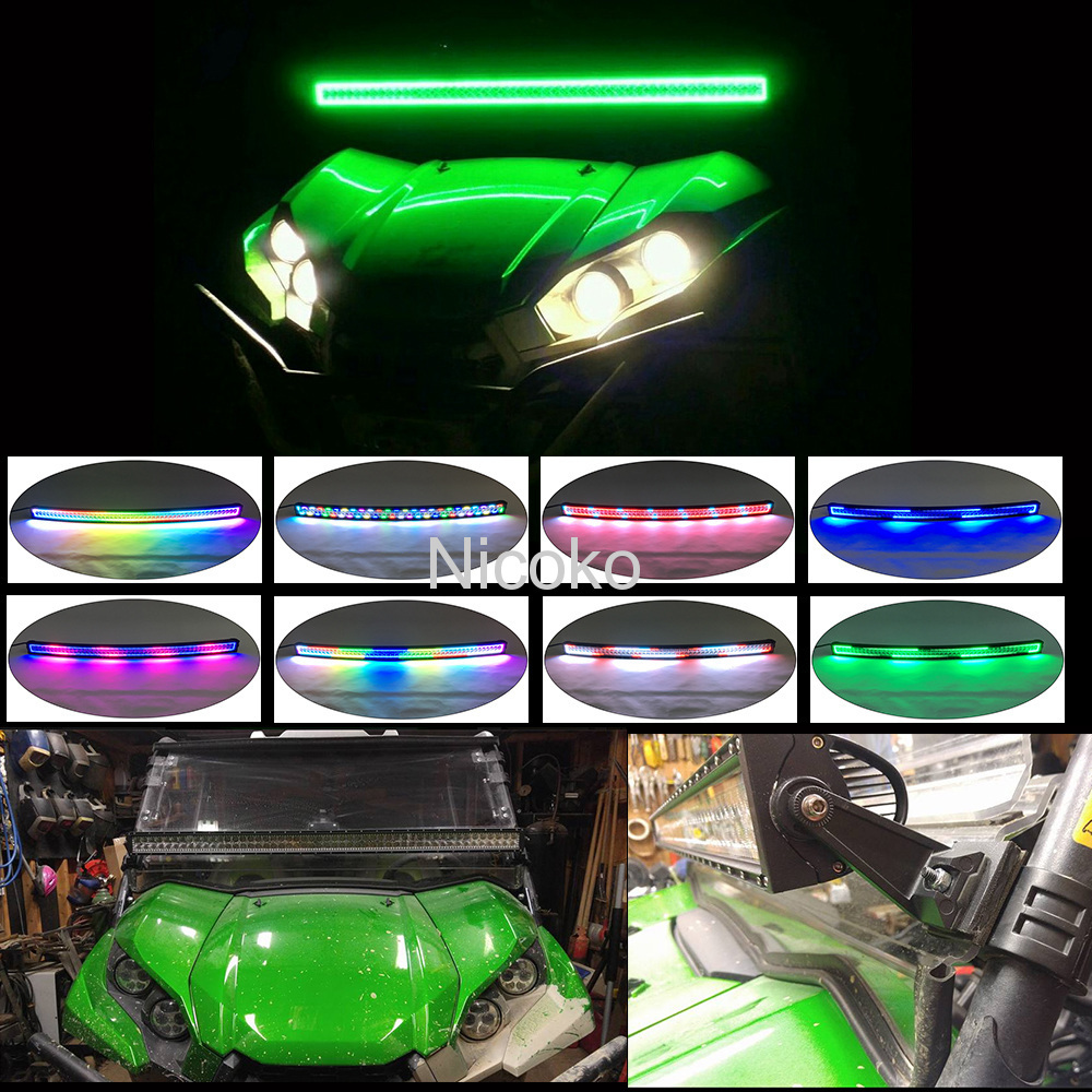 "Curved 300w 52"" led Off-Road & Truck light bar chasing halo+2xpods halo"