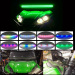 "32"" Straight Double Row LED Light Bar chasing 180w+ 2xPods 12w Chaser RGB halo"