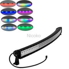 300w 52 Inch Straight Led Bar for truck with RGB halo
