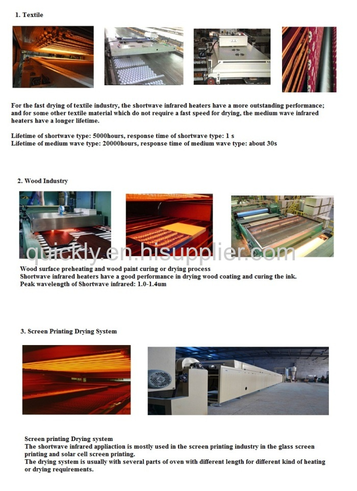 Carbon fiber infared garage heater from China manufacturer