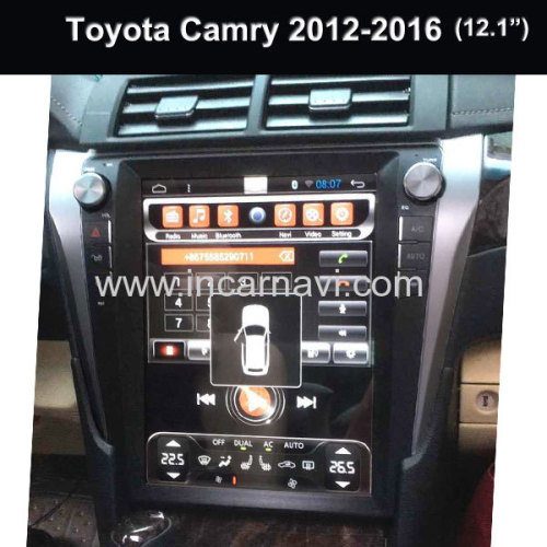 Wholesale Tesla Model Car Multimedia System Toyota Camry 2012-2016 Android Car Radio With Gps