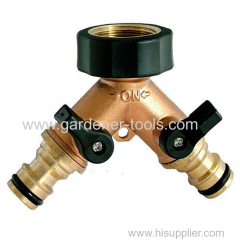 Copper Soft Waterslang Splitter