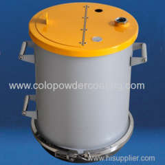 powder painting fluidizing powder hopper