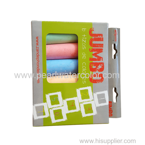 6pc Color School JUMBO Chalk