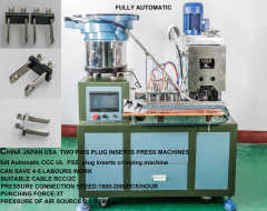 two pins USA plug insert crimping machines
