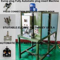 THREE PINS UL SAA IRAM CCC PLUG INSEET CRIMPING MACHINES
