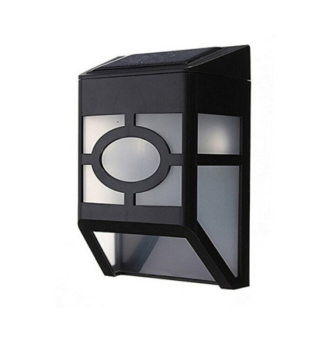 2LED Chargeable Battery Motion Sensor Solar Garden Wall Light