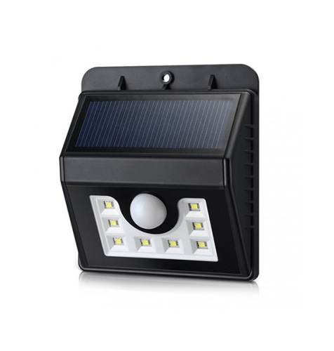8 LED All In One Outdoor Solar Wall Light