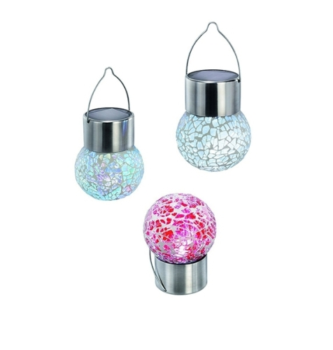 Hung Bubble Design Colorful Outdoor Solar Garden Light
