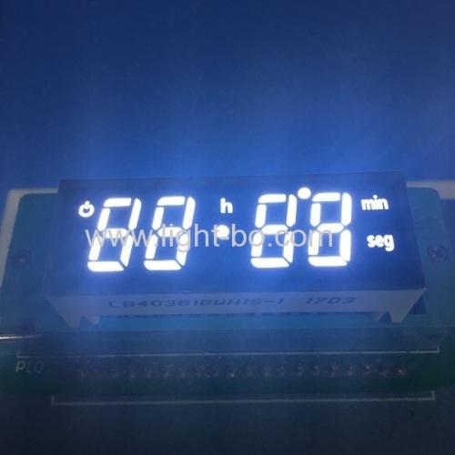 custom led display; white display; white 7 segment ; oven timer ;oven display