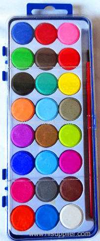 24 Colors Watercolor Paint Cakes Set