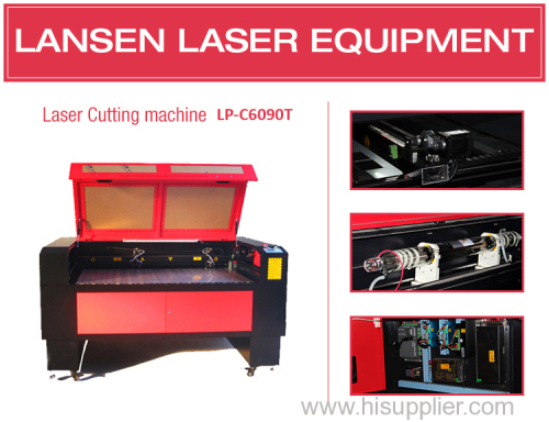 China laser cutting LANSEN 9060 laser machine with two heads or optional heads